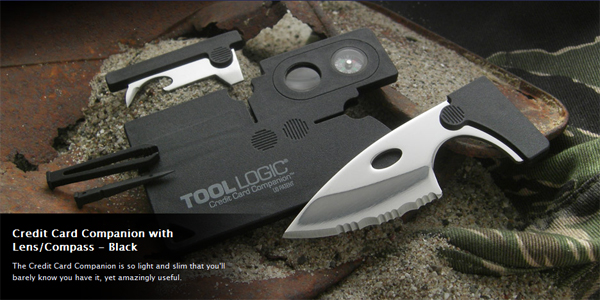 Tool Logic Credt Card Companion with Lens/Compass